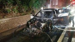고속도로를 달리던 BMW 520d에서 또 불이 났다