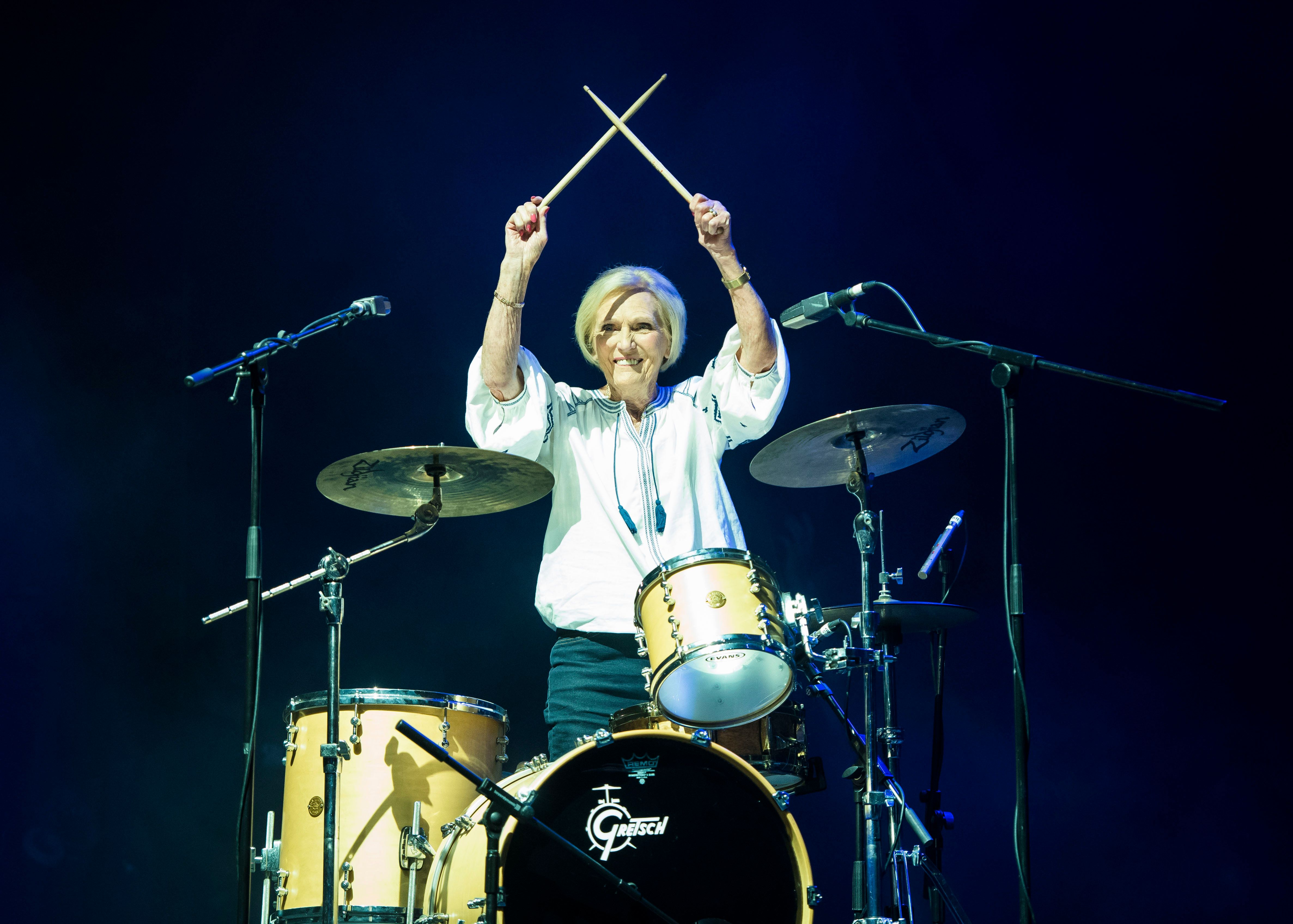 Camp Bestival Audience Stunned As Mary Berry Plays Drums For Rick