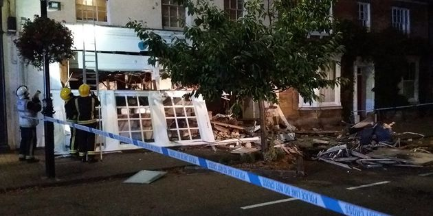 Barclays Bank in Olney, near Milton Keynes, was left devastated after Sunday's early morning