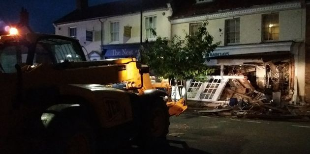 The JCB was left abandoned at the
