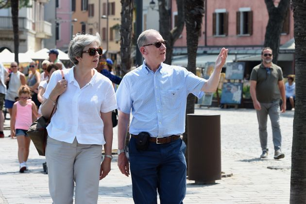 Theresa May Continues The Noble Tradition Of Politicians Posing For Awkward Holiday