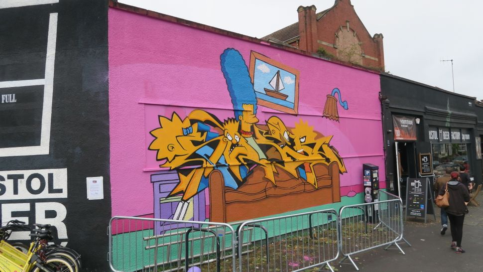 "Bristol artist Soker was one of three people invited by ""The Simpsons"" to recreate Springfield's animated family at Upfest."