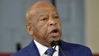 CAMBRIDGE, MA - MAY 24:  U.S. Rep. John Lewis (D-GA) delivers the keynote address at Harvard University Commencement Annual Meeting of the Alumni Association at Harvard University on May 24, 2018 in Cambridge. (Photo by Paul Marotta/Getty Images)