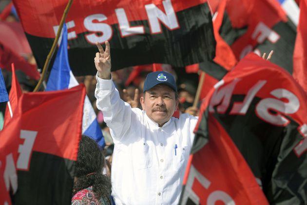 El presidente nicaragüense Daniel Ortega, en la conmemoración del 39º aniversario de la Revolución sandinista...