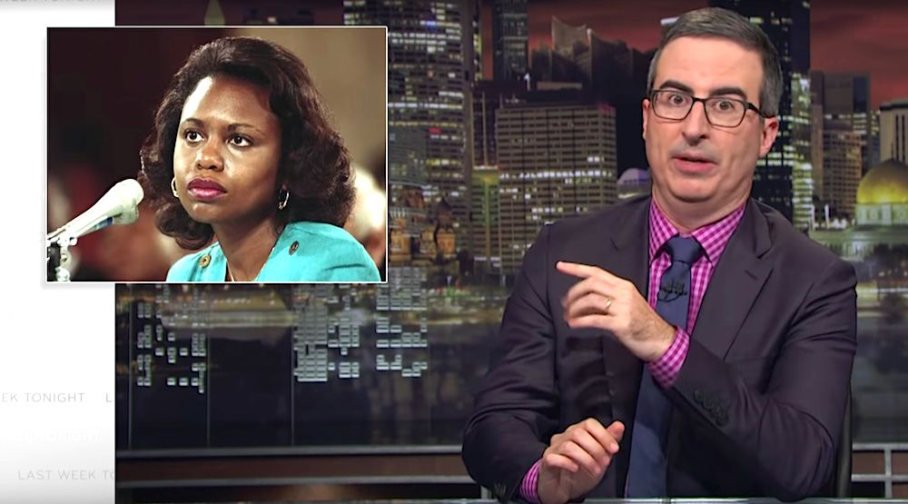 John Oliver discusses sexual harassment with Anita Hill on Last Week Tonight