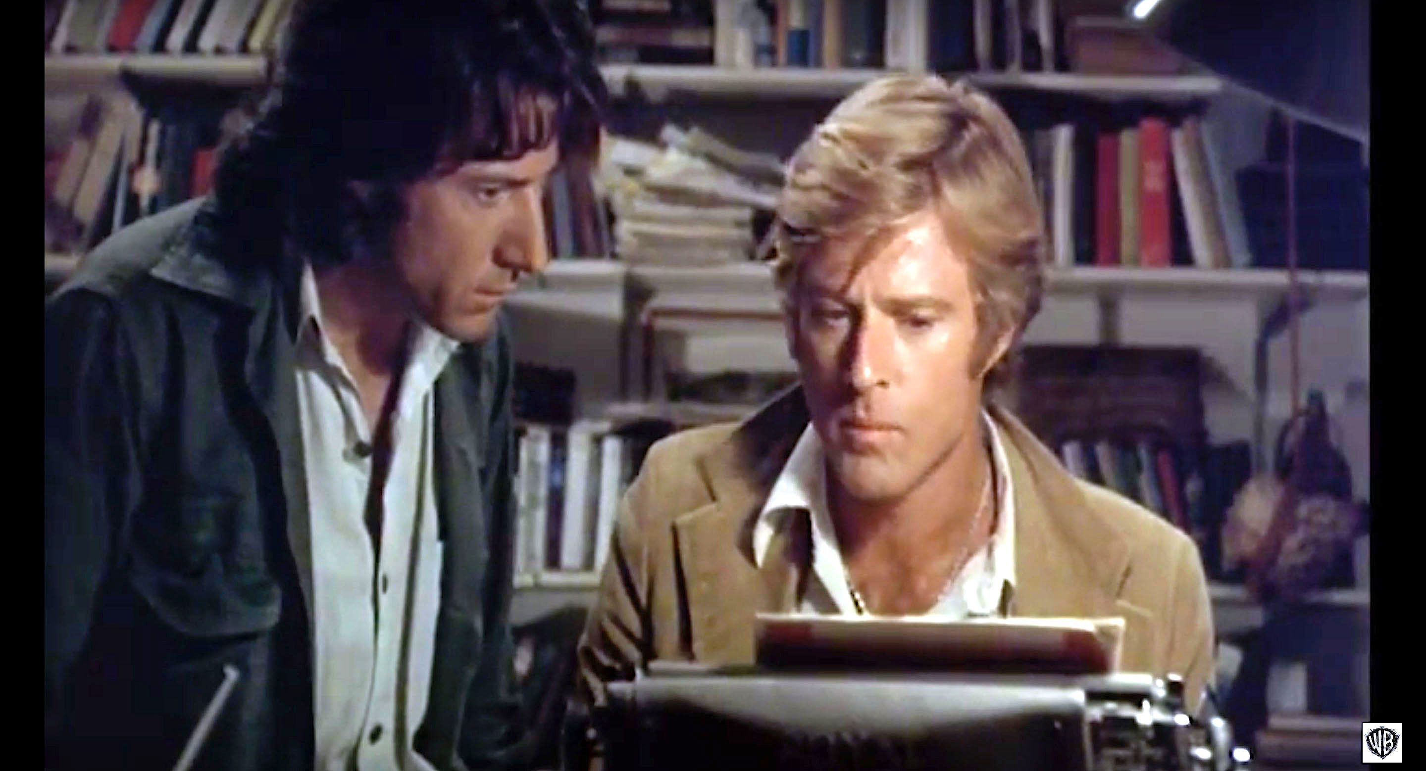 Dustin Hoffman and Robert Redford in All the Presidents Men