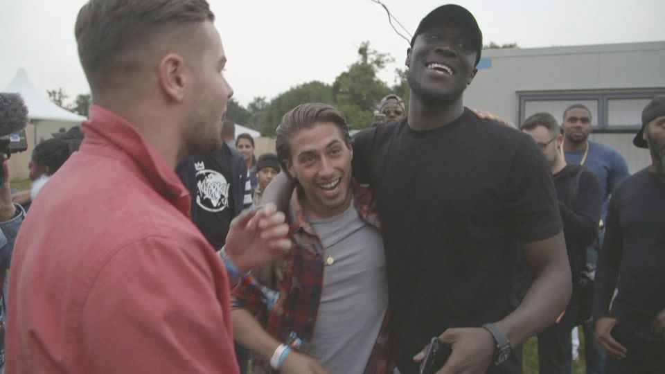 Chris and Kem with Stormzy at V