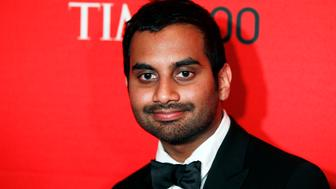 Comedian Aziz Ansari arrives at the Time 100 Gala in New York, April 24, 2012. The Time 100 is an annual list of the 100 most influential people in the last year complied by Time Magazine. REUTERS/Lucas Jackson (UNITED STATES - Tags: ENTERTAINMENT)