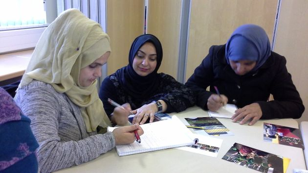 Women take part in a variety of classes to help them settle into life in the