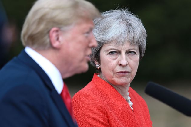 Theresa May disagreed with Donald Trump on