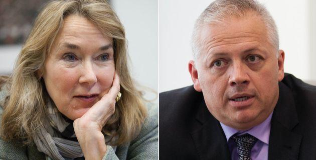 Democrat Leslie Cockburn (left) and Republican Denver Rigglemanwill be going head-to-head in November...