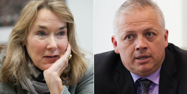 Democrat Leslie Cockburn (left) and Republican Denver Riggleman will be going head-to-head in November in the battle for