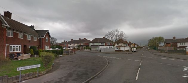 Kingsland Road, Birmingham, where the crash