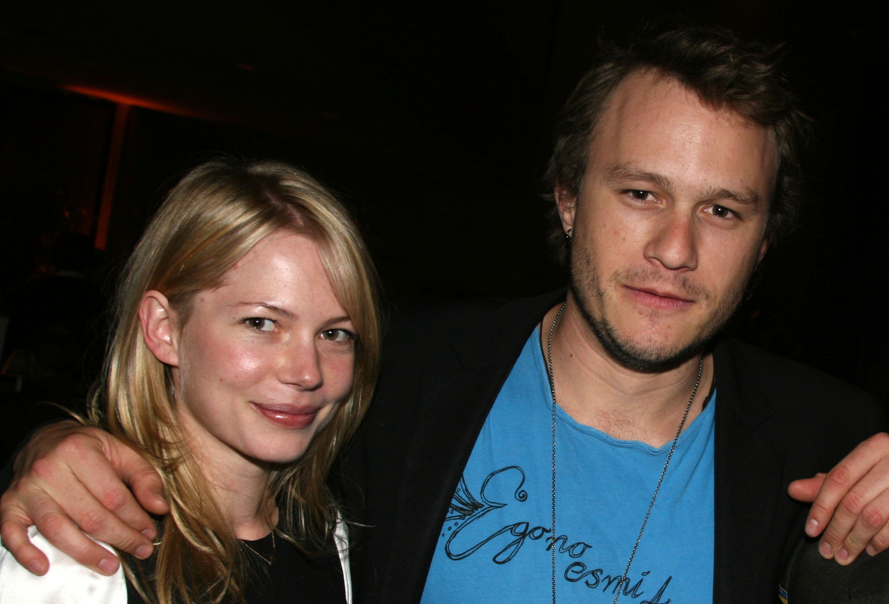 Michelle Williams and Heath Ledger during 'Awake and Sing!' Opening Night - After Party at Marriott Marquis Ballroom in New York City, New York, United States. (Photo by Bruce Glikas/FilmMagic)
