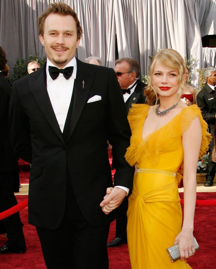 Heath Ledger and Michelle Williams pictured together at the 78th Annual Academy Awards.
