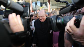 (AUSTRALIA OUT) Adelaide Archbishop Philip Wilson leaves Newcastle courthouse after being found guilty of concealing historical child sexual abuse on May 22, 2018 in Newcastle, Australia. (Photo by Jonathan Carroll/Fairfax Media)