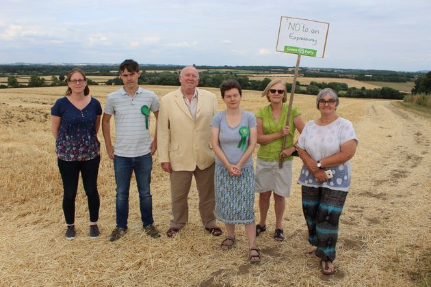 Keith Taylor MEP joins anti-Expressway Green Party campaigners from across Oxfordshire, Buckinghamshire...