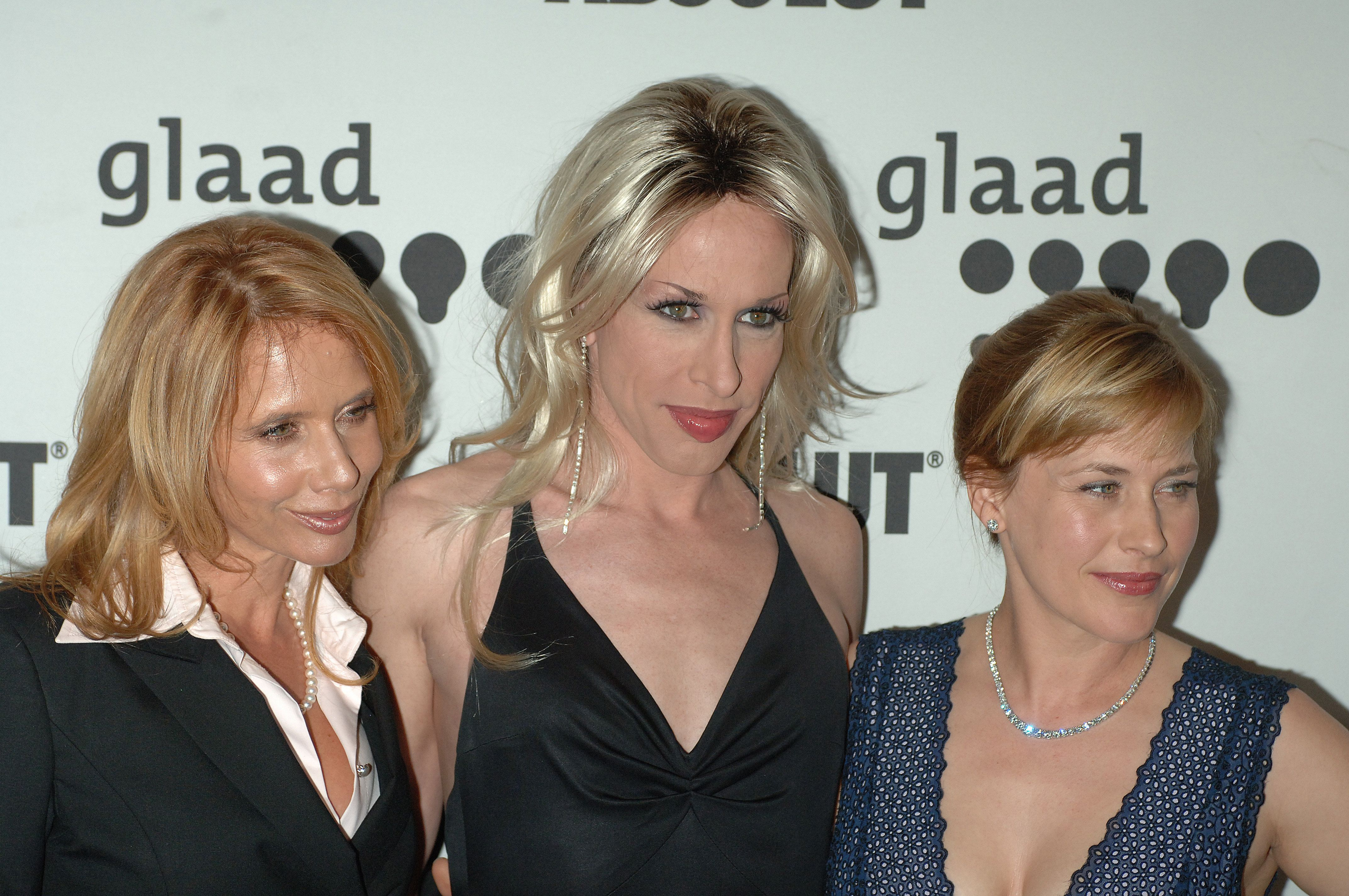(L-R) Rosanna, Alexis and Patricia Arquette arrive at the 17th Annual GLAAD Media Awards held at the Kodak Theatre in Hollywood. (Photo by Frank Trapper/Corbis via Getty Images)