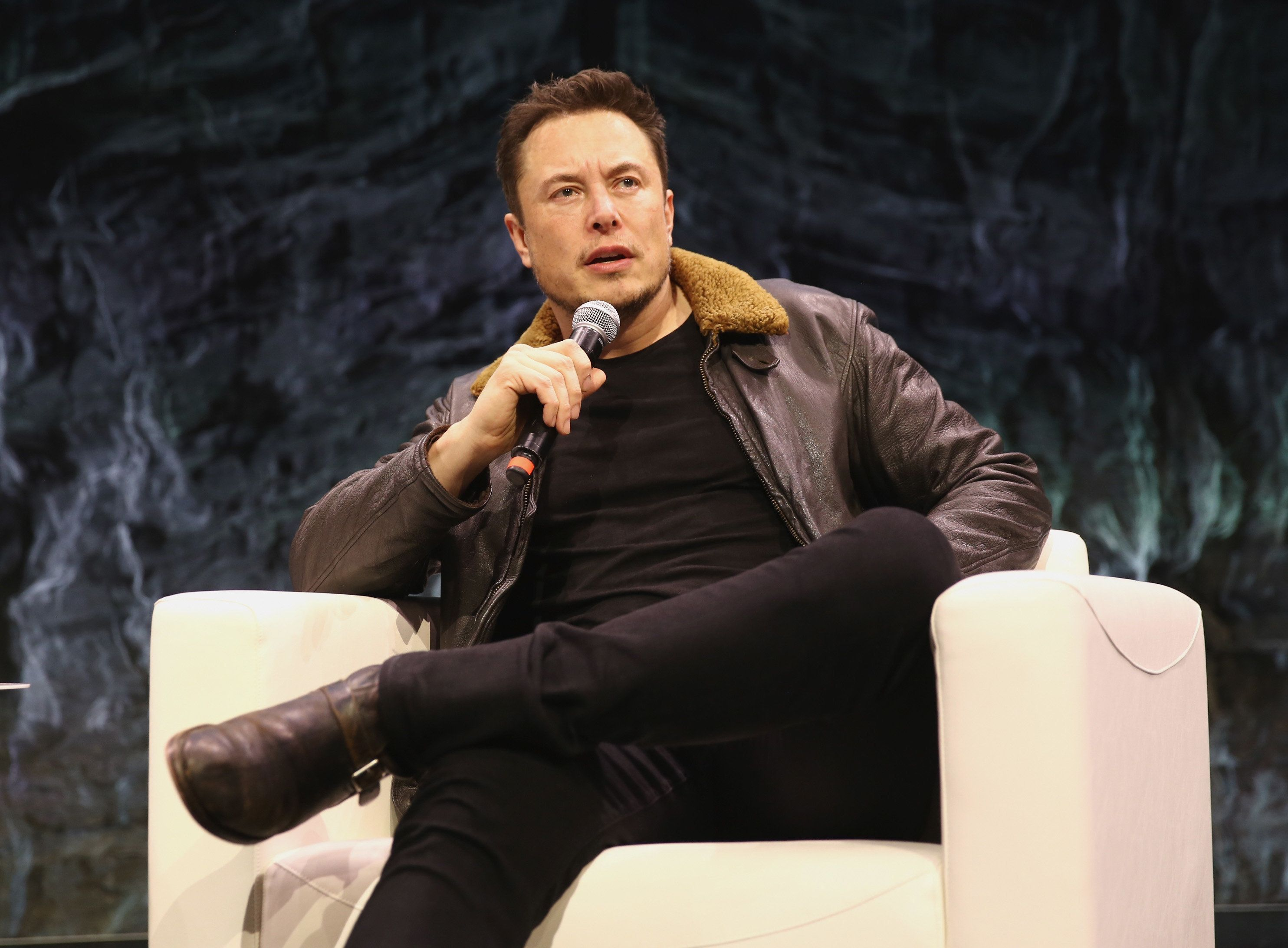 AUSTIN, TX - MARCH 11:  Elon Musk speaks onstage at Elon Musk Answers Your Questions! during SXSW at ACL Live on March 11, 2018 in Austin, Texas.  (Photo by Diego Donamaria/Getty Images for SXSW)