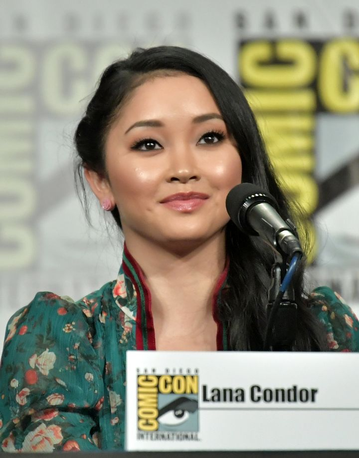 Lana Condor at a panel at Comic-Con in San Diego.