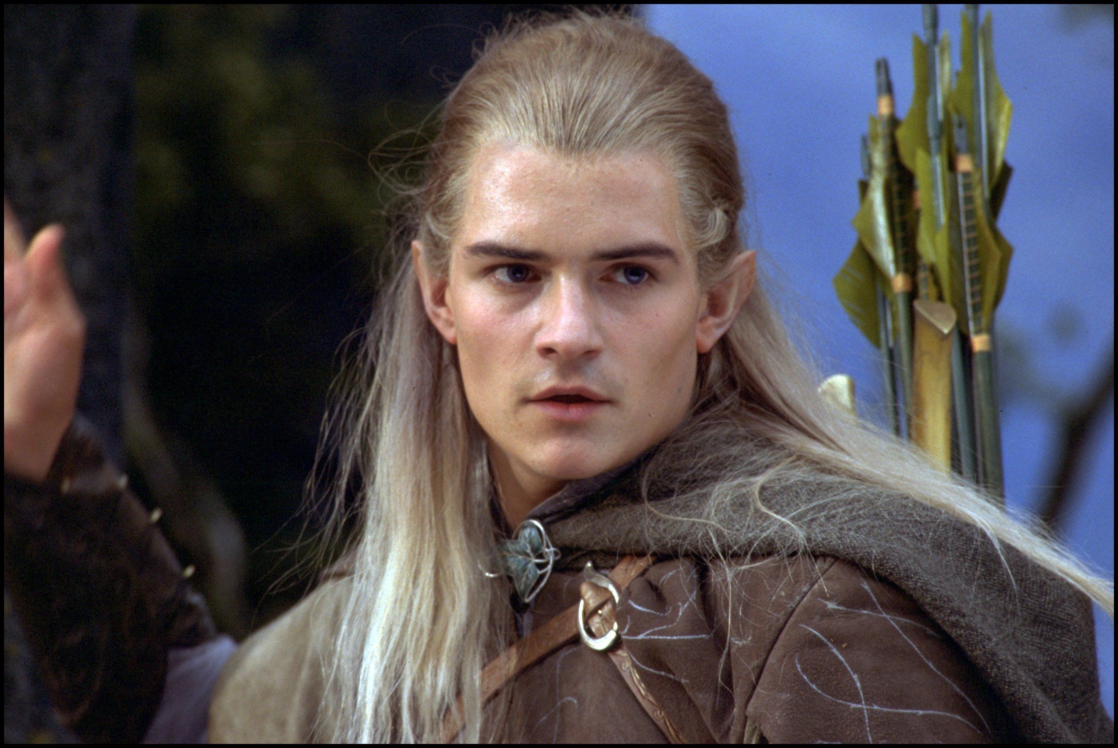"UNITED STATES - DECEMBER 01:  ""The Lord of the Rings: The fellowship of the ring"" In United States In December, 2001-Orlando Bloom as Legolas, one of nine in the Fellowship.  (Photo by 7831/Gamma-Rapho via Getty Images)"