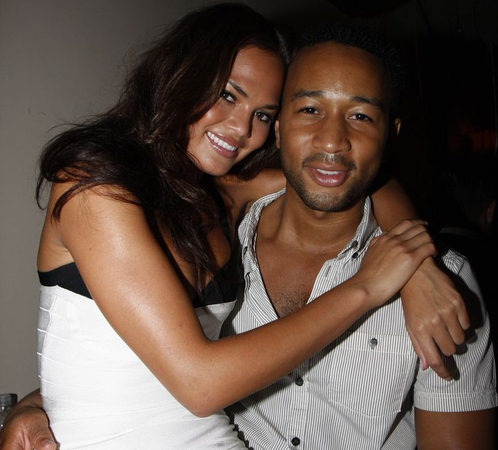 Chrissy Teigen and John Legend nearly a decade ago in August2008.