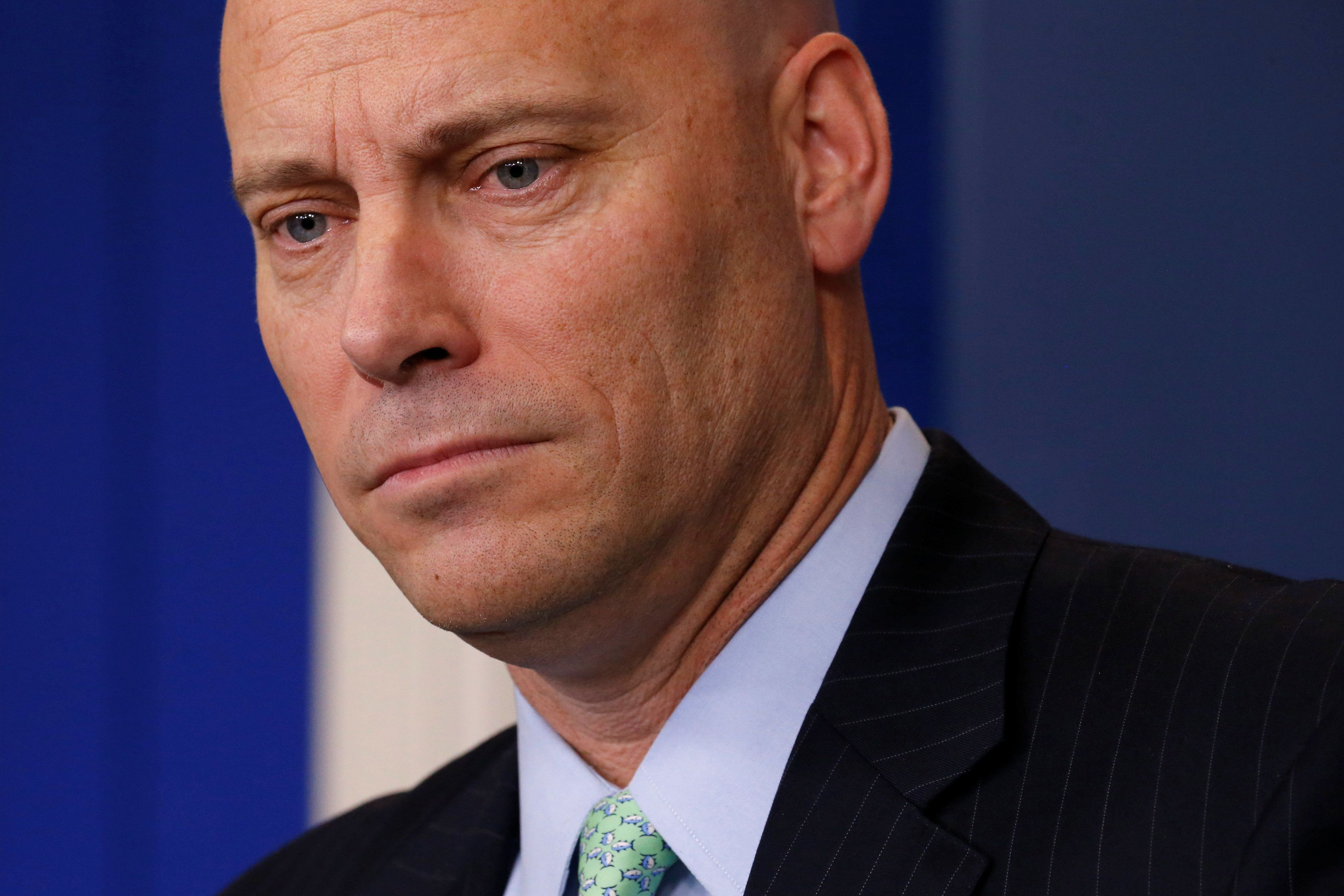 Former White House Director of Legislative Affairs Marc Short, seen here in March, has been hired as a senior fello