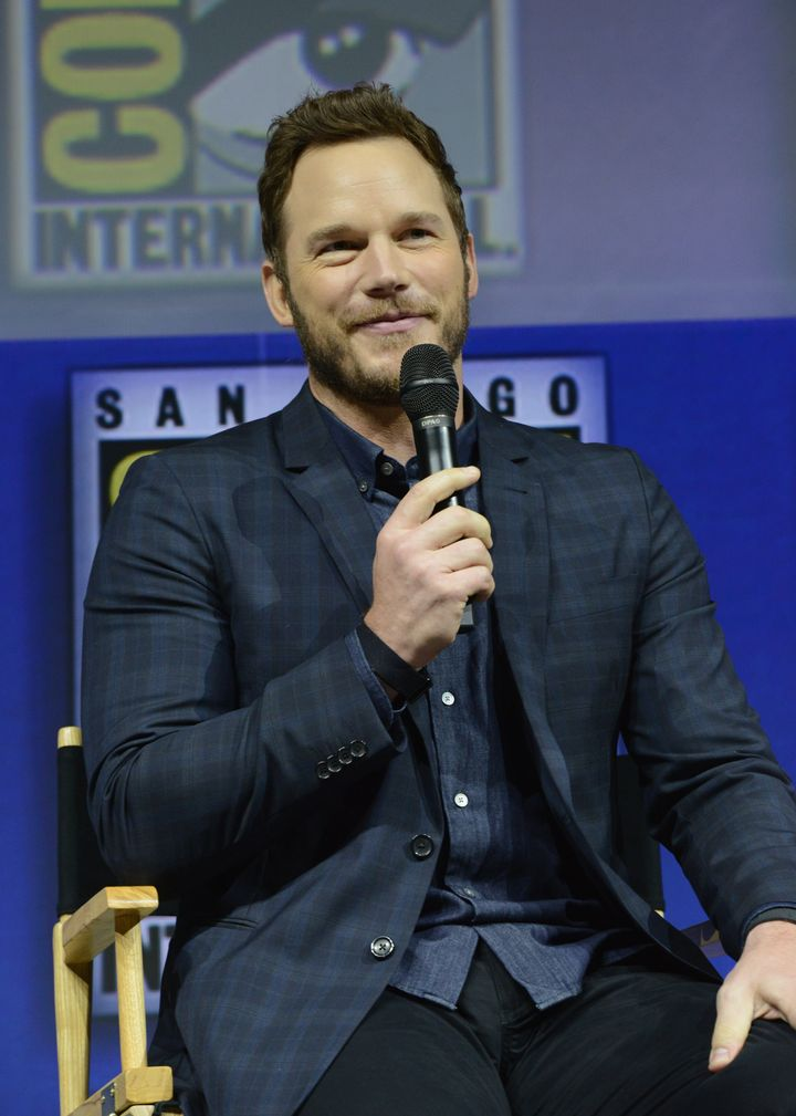 Chris Pratt speaks onstage during Comic-Con International 2018 in July.