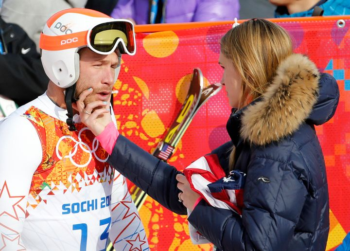 Bode and Morgan Miller at the Sochi Olympics in 2014.