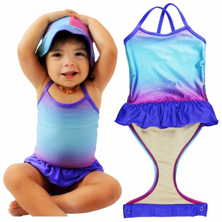 Fasten offers girls' swimsuits that come undone at the waist.