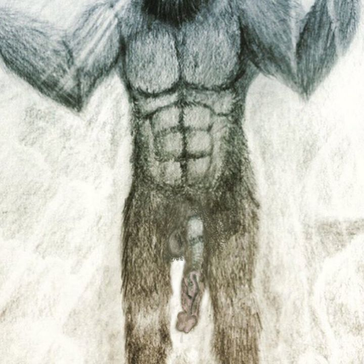 Bigfoot's penis, as imagined by me.
