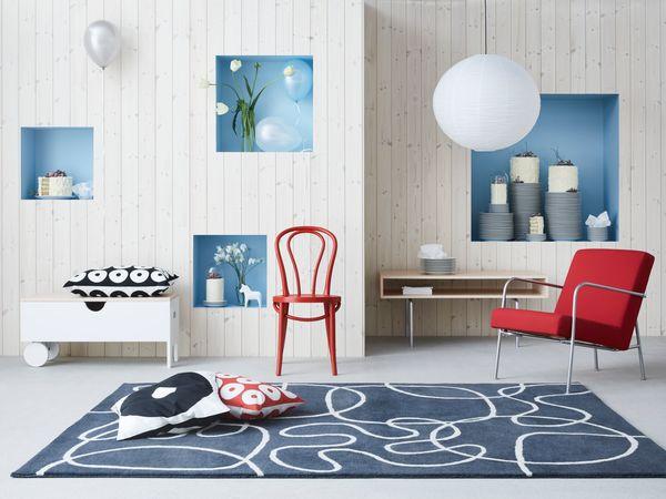 IKEA PS 1999 Armchair<br>BJURÅN chair<br>IKEA PS 1995 rug