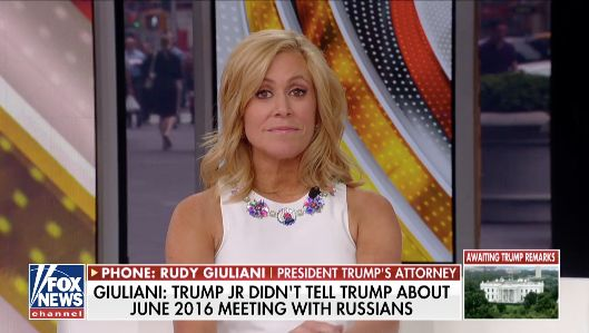 Fox News' Melissa Francis reacts to Rudy Giuliani's explanation for stating President Donald Trump wasn't at a meeting that a