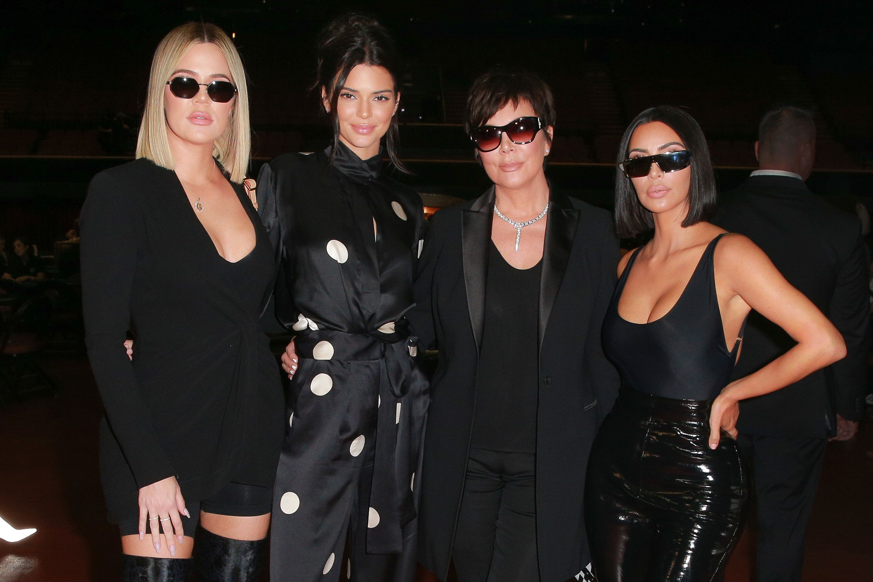 INGLEWOOD, CA - JULY 29:  (L-R) Khloe Kardashian, Kendall Jenner, Kris Jenner and Kim Kardashian West attend the first annual 'If Only' Texas hold'em charity poker tournament benefiting City of Hope at The Forum on July 29, 2018 in Inglewood, California.  (Photo by Rich Fury/Getty Images)