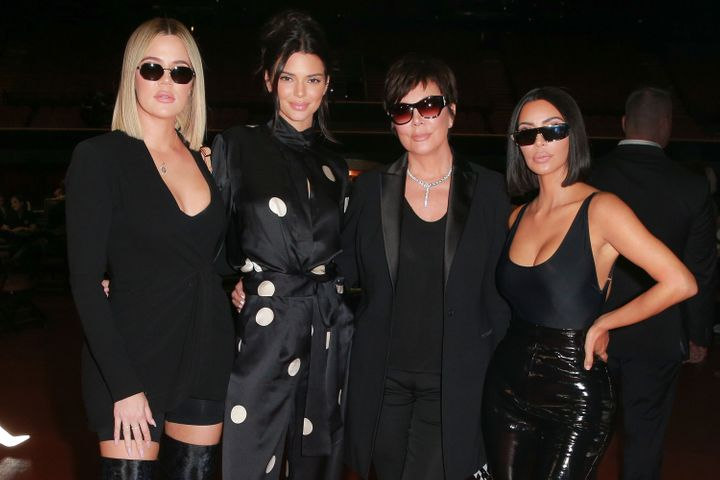Khloe Kardashian, Kendall Jenner, Kris Jenner and Kim Kardashian West attend a charity poker tournament in Inglewood, Ca