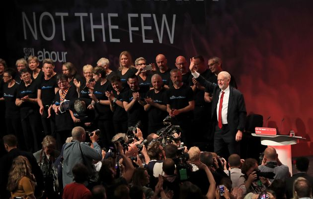 Jeremy Corbyn at the annual conference in