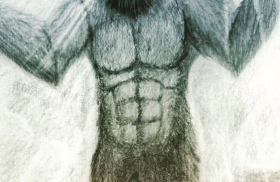 Drawing wet nude women