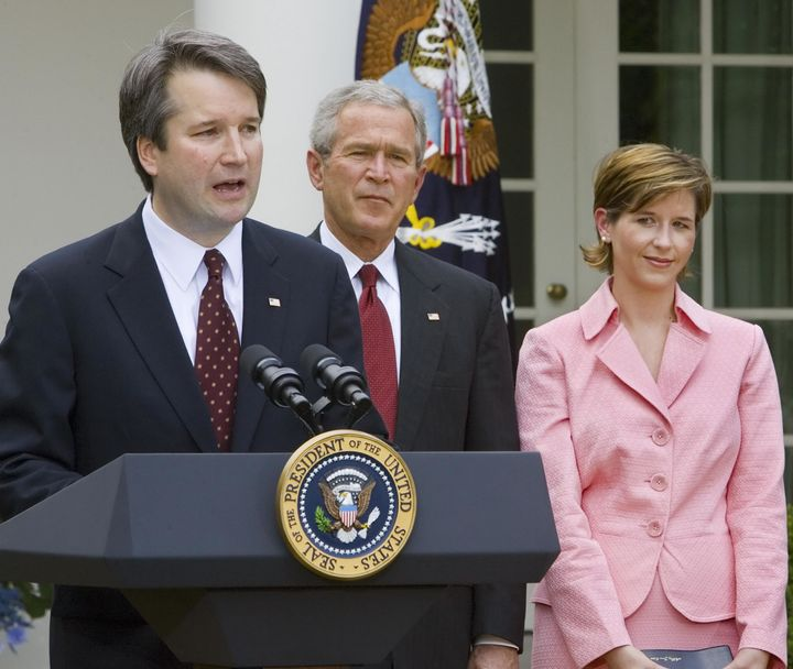 Brett Kavanaugh with then-President George W. Bush and wife Ashley Kavanaugh in June 2006.