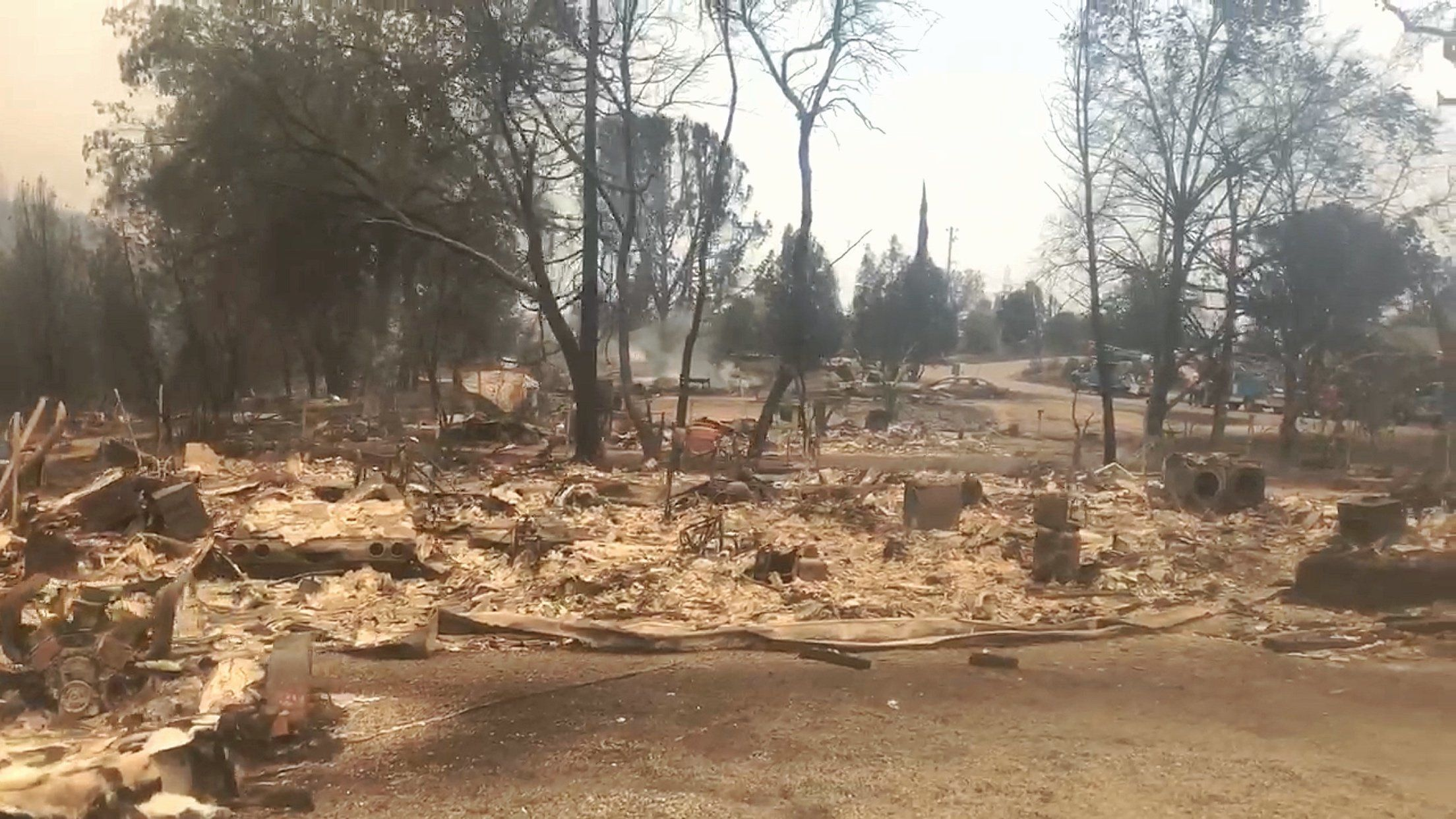 TheCampbells' property after the Carr fire hit, near Redding, California, on July 27, 2018.