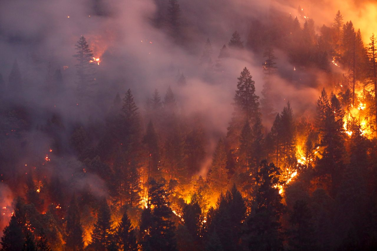 Six people have died in the massive Carr Fire, which has burned over 100,000 acres and forced thousands to evacuate since it began on July 23.