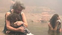 Η ιστορία πίσω από την εικόνα της γιαγιάς που κρατά αγκαλιά την εγγονής της και του 14χρονου