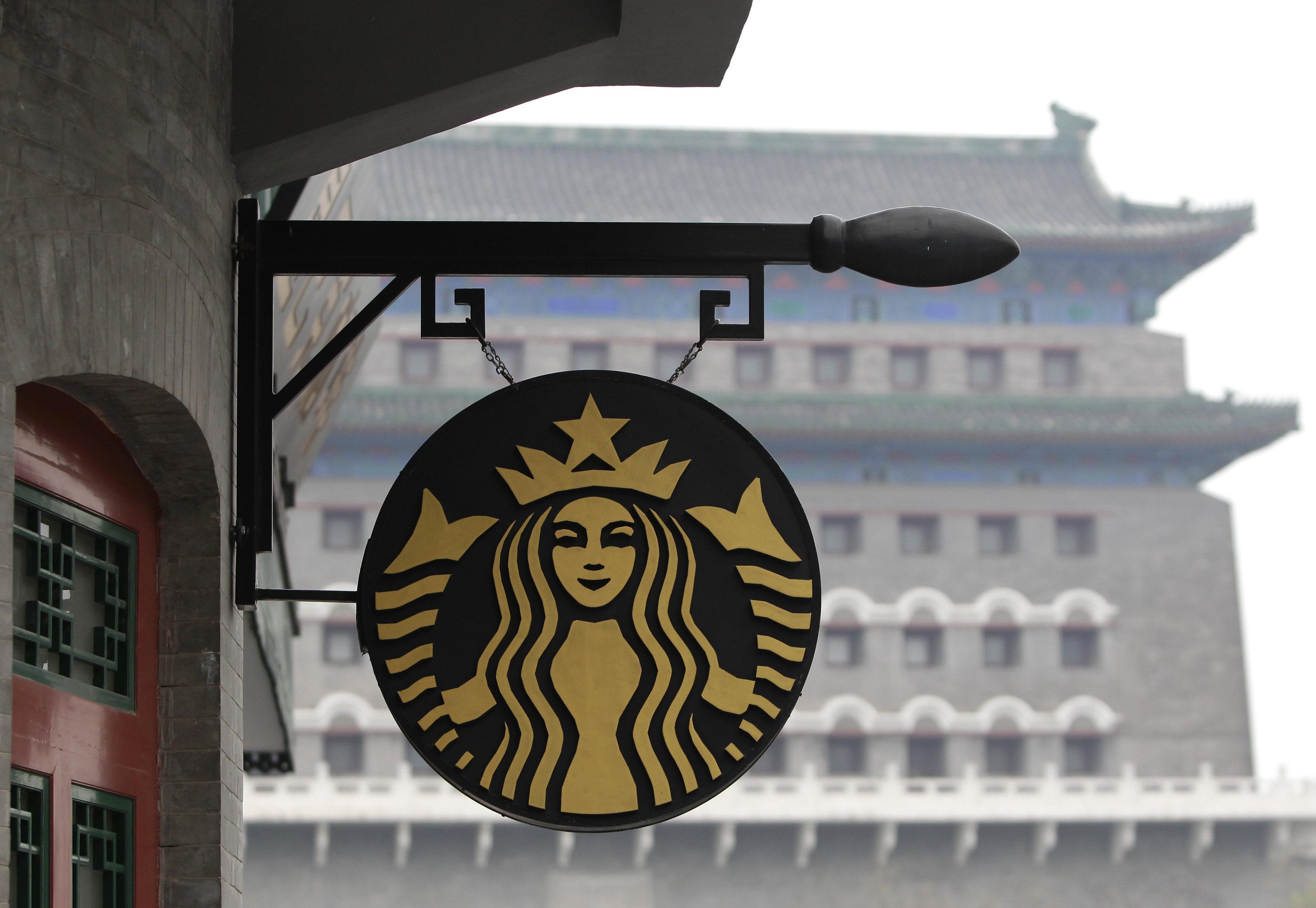 중국 스타벅스가 정식 배달 서비스를