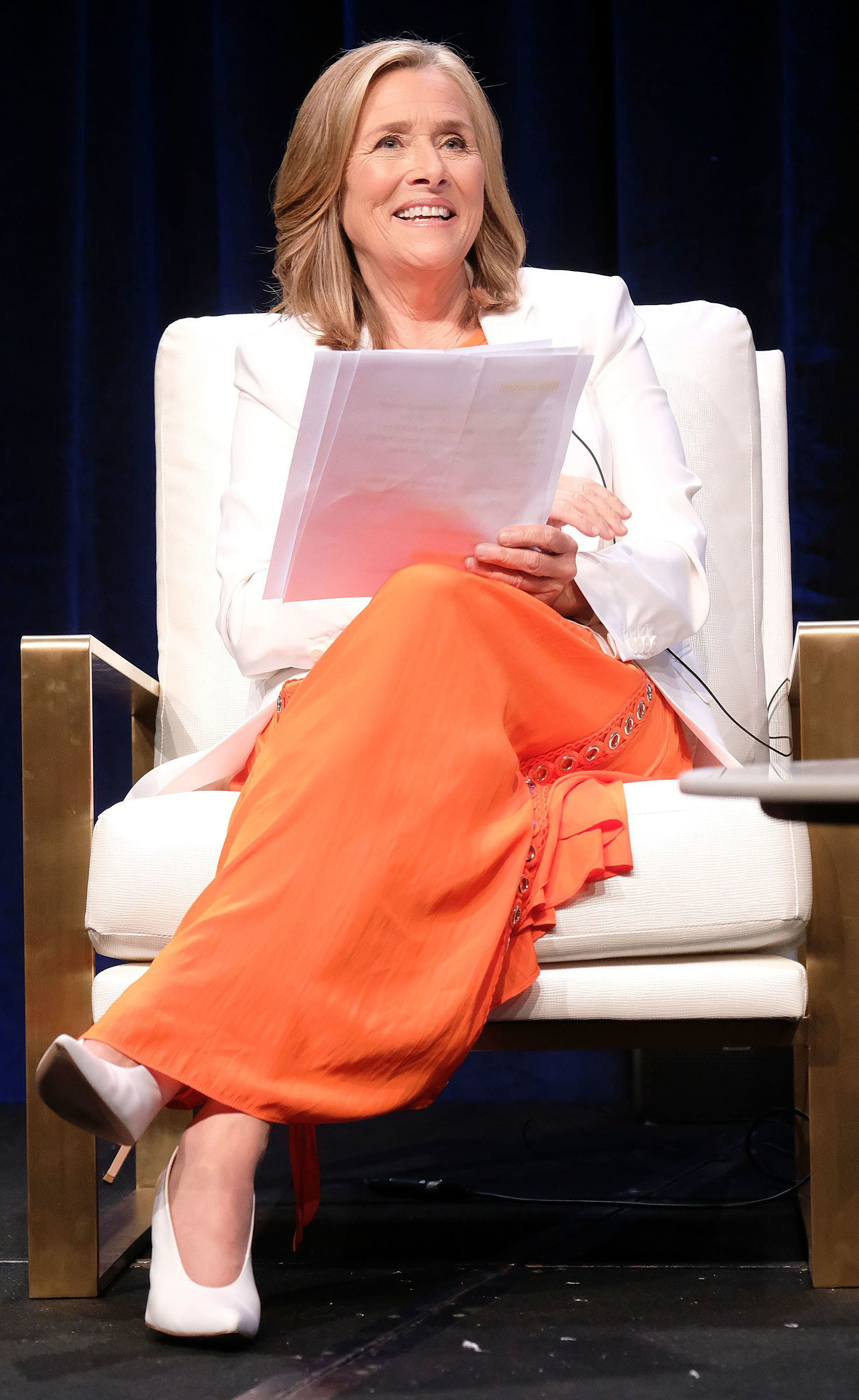 BEVERLY HILLS, CA - JULY 30: Meredith Vieira of the television show 'Great American Read' speaks during the PBS segment of the Summer 2018 Television Critics Association Press Tour at the Beverly Hilton Hotel on July 30, 2018 in Beverly Hills, California.  (Photo by Frederick M. Brown/Getty Images)