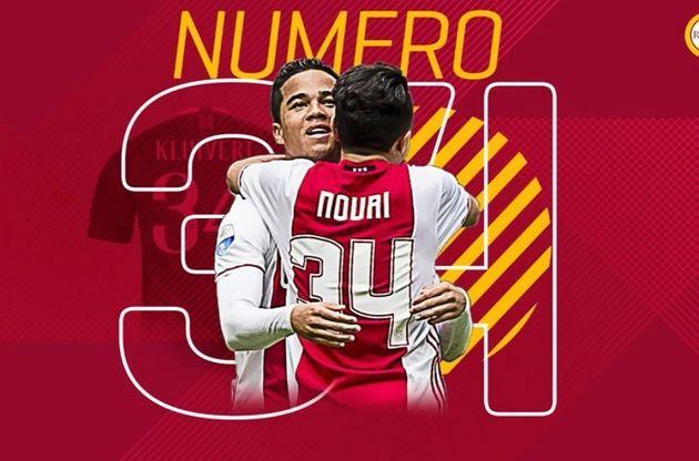 Football: Kluivert et Younes choisissent le numéro 34 en hommage à
