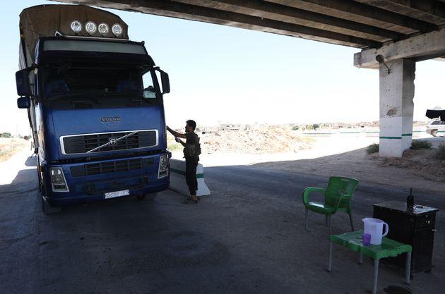 Le point de passage de Morek entre Idleb (contrôlée par des rebelles) et Hama (régime),...