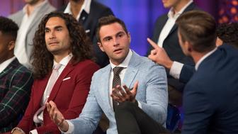 "BACHELORETTE - ""The Men Tell All"" - The most memorable bachelors from this season - including Chris R., Christon,  Colton, Connor, David, Jason, Jean Blanc, John, Jordan, Leo, Nick and Wills, as well as Christian, Jake, Joe and Kamil - return to confront each other and Becca one last time to dish the dirt, tell their side of the story and share their emotional departures. Finally, as the clock ticks down on Becca�s journey to find love, a special sneak peek of her dramatic final week with Blake and Garrett is highlighted, on ""The Bachelorette: The Men Tell All,"" MONDAY, JULY 30 (8:00-10:01 p.m. EDT), on The ABC Television Network. (ABC/Paul Hebert)