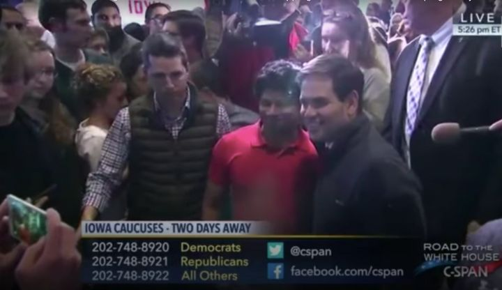 C-Span footage captured Shri Thanedar posing for a photo with Sen. Marco Rubio (R-Fla.) ahead of the 2016 Republican presiden