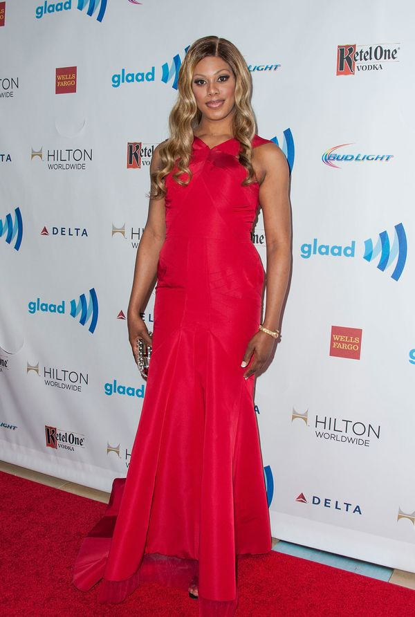 At the 25th Annual GLAAD Media Awards at the Beverly Hilton Hotel on April 12 in Beverly Hills.