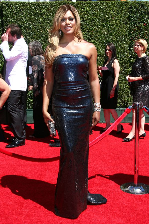 On the red carpet at the 2014 Creative Arts Emmy Awards at the Nokia Theatre on Aug. 16 in Los Angeles.