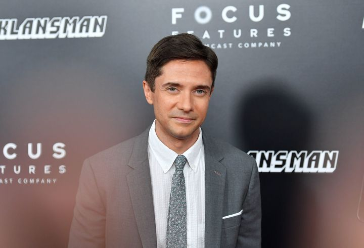 "Topher Grace at the ""BlacKkKlansman"" New York premiere on July 30."